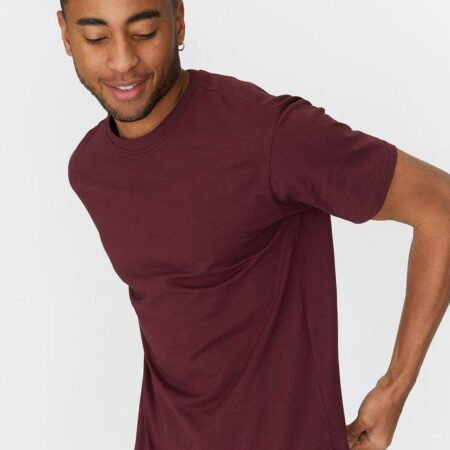 Dr Denim Derek Tee in Mulberry Wine