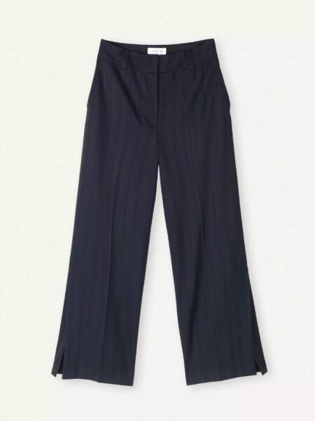 Libertine-Libertine Emerge Forge Trousers in Navy Stripe