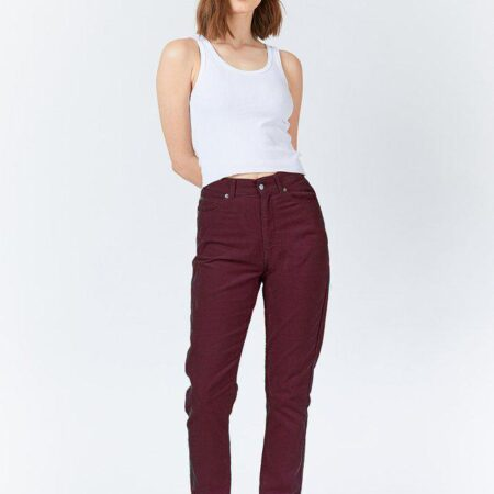 Dr Denim Nora Cord Jeans in Mulberry Wine