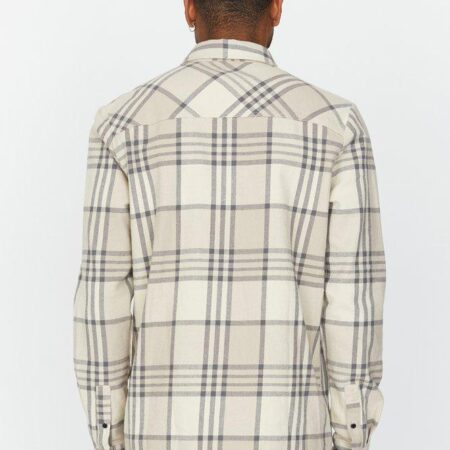 Dr Denim Titus Shirt in Cashew Check
