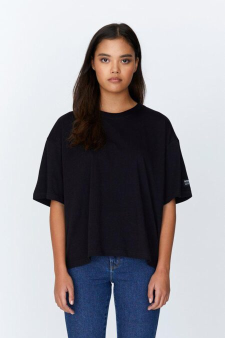 Dr Denim Valeria Tee in Black