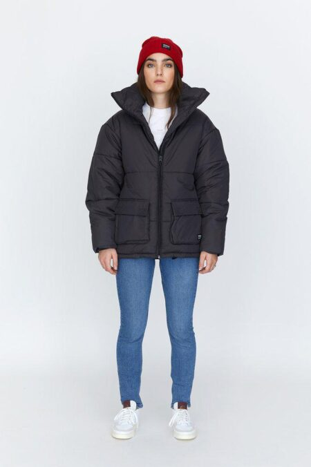 Dr Denim Whitney Puffer Jacket in Graphite