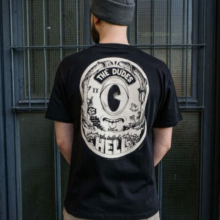 The Dudes Factory Hell Tee in Caviar