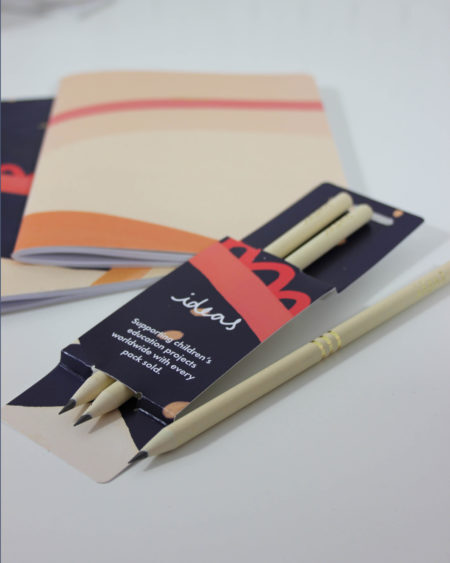Vent For Change Recycled Ideas Pencil Pack in Blue Buttermilk