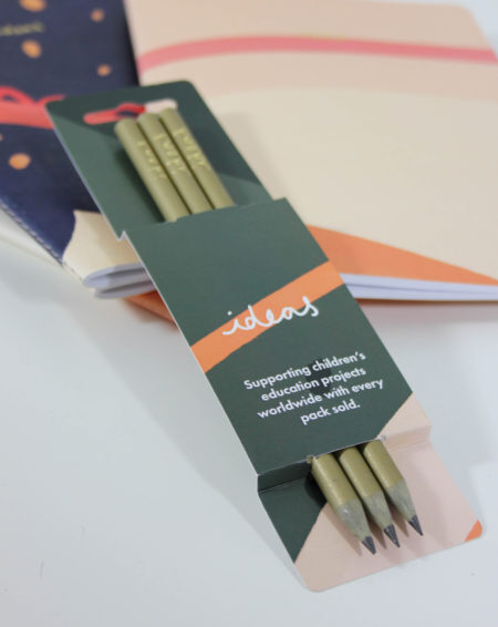 Vent For Change Recycled Ideas Pencil Pack in Green Gold