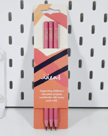 Vent For Change Recycled Ideas Pencil Pack in Orchid Pink