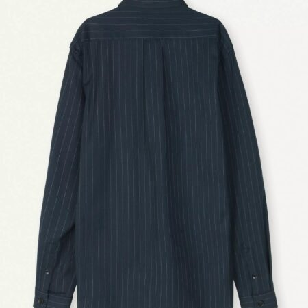 Libertine-Libertine Miracle Down Shirt in Navy Pinstripe