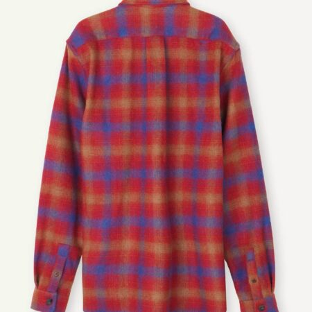 Libertine-Libertine Miracle Site Shirt in Chinese Red Check