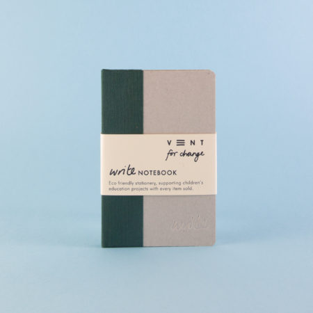 Vent For Change Sustainable A6 Write Notebook in Green with Plain Paper
