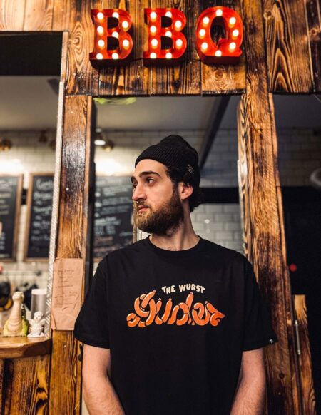 The Dudes Factory Wurst Dudes Tee in Caviar