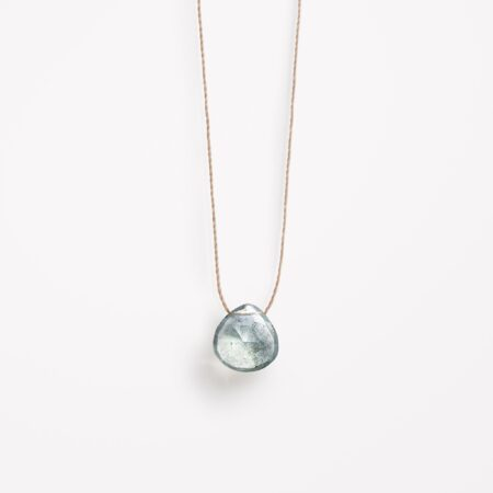 Wanderlust Life Aquamarine Fine Cord Necklace
