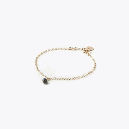 Wanderlust Life Obsidian Gold Vega Bracelet