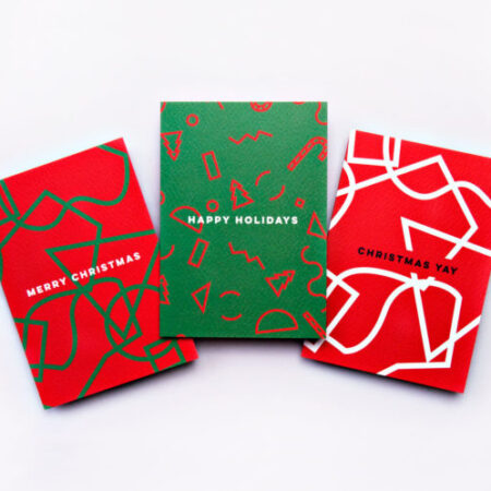 The Completist Shapes Christmas Card Set