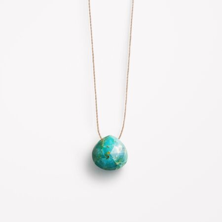Wanderlust Life Chrysocolla Fine Cord Necklace