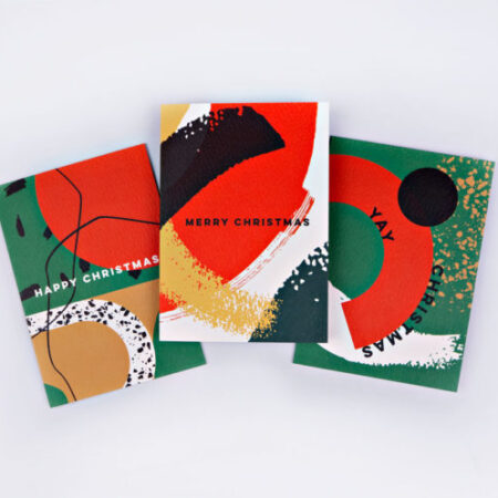 The Completist Memphis Brush Christmas Card Set