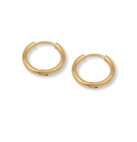 A Weathered Penny Madison Hoop Earrings in Gold