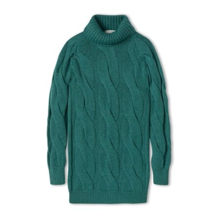 Peregrine Oversized Cable Jumper in Sea Green
