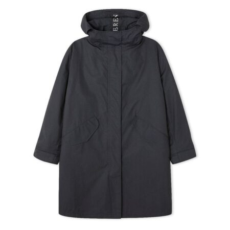 Peregrine Oversized Wool Lined Parka in Charcoal