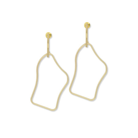 A Weathered Penny Sena Earrings in Gold