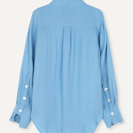 Libertine-Libertine Chablis Blouse in Ocean Blue