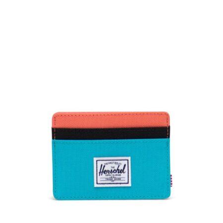 Herschel Supply Co Charlie Card Holder in Blue Bird/Black/Ember Glow
