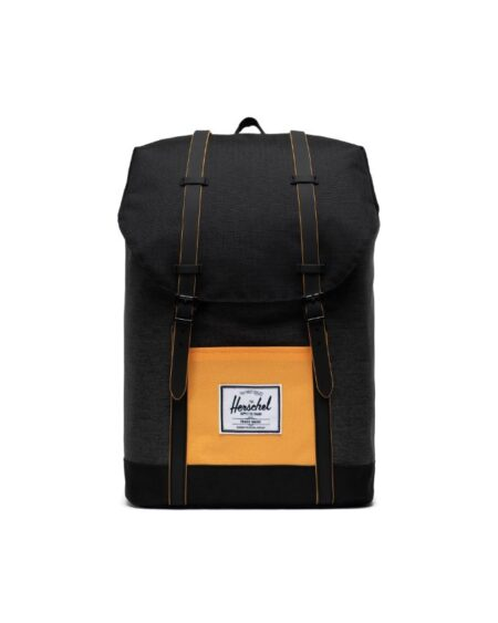 Herschel Supply Co. Little Retreat Backpack in Black Crosshatch/Black/Blazing Orange