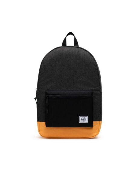 Herschel Supply Co. Settlement Backpack in Black Crosshatch/Black/Blazing Orange