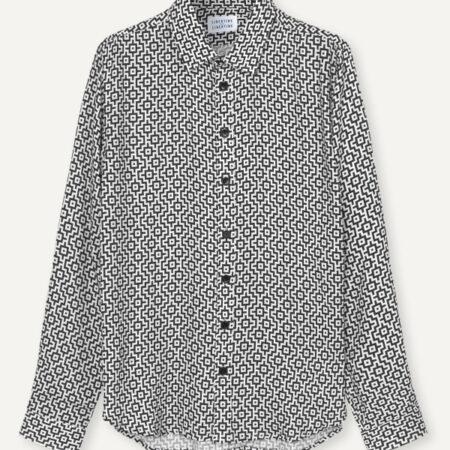 Libertine-Libertine Babylon Shirt in Black & White