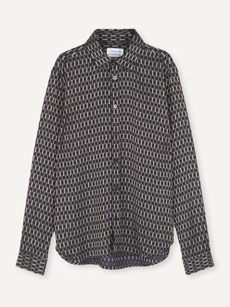 Libertine-Libertine Babylon Shirt in Brown Check