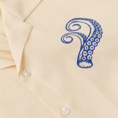 Libertine-Libertine Cave Shirt in Off-White Pulpo