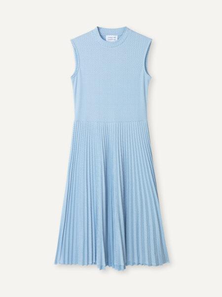 Libertine-LibertineEra Dress in Sky Blue Grid