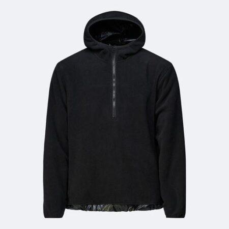 Rains Fleece Pullover in Black