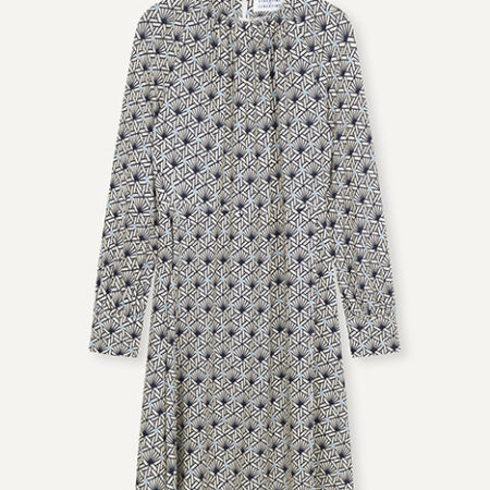 Libertine-Libertine Fluid Dress in AOP Tile Dot
