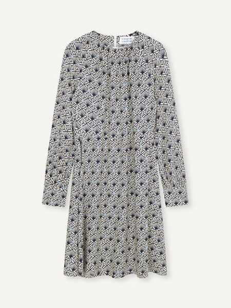 Libertine-LibertineFluid Dress in AOP Tile Dot