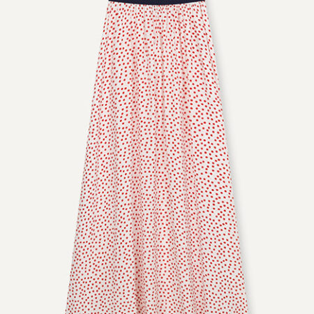 Libertine-Libertine Forget Skirt in Fire Red Dot