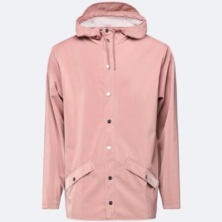 Rains Waterproof Jacket in Blush