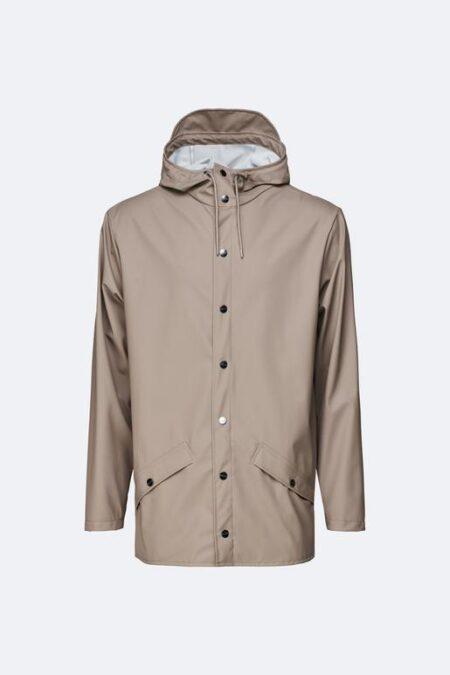 Rains Waterproof Jacket in Taupe