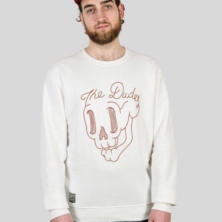 The Dudes Skool Sweatshirt in White