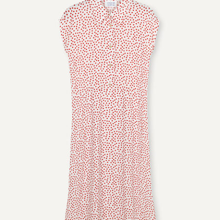 Libertine-Libertine Source Dress in Fire Dot AOP