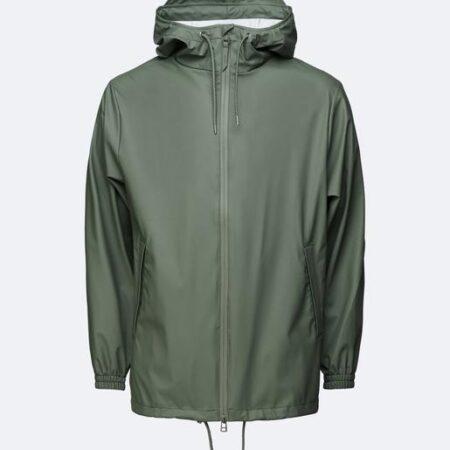 Rains Waterproof Storm Breaker Jacket in Olive