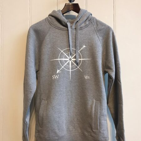 Fishboy PZ SW Compass Hoodie in Light Grey