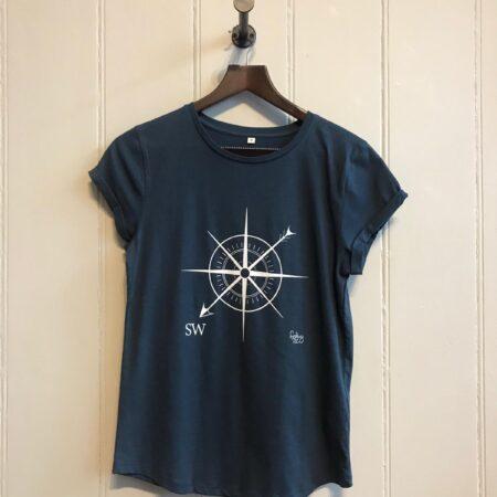 Fishboy PZ Denim Blue Women's SW Compass Tee