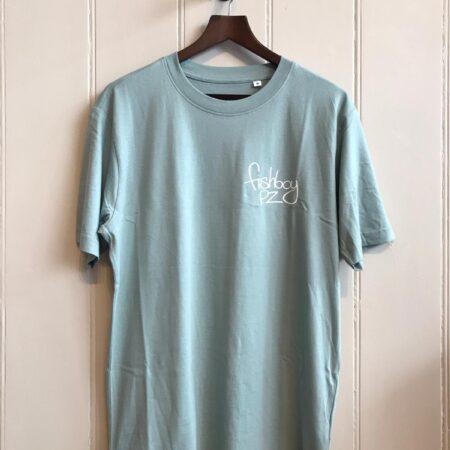 Fishboy PZ Oversized Logo Tee in Slate Green