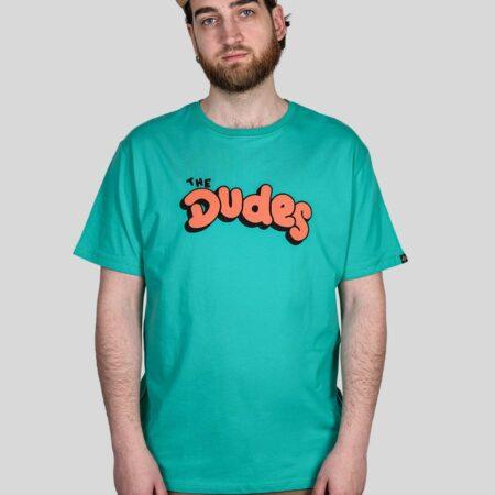 The Dudes Comic Dudes Tee in Aqua