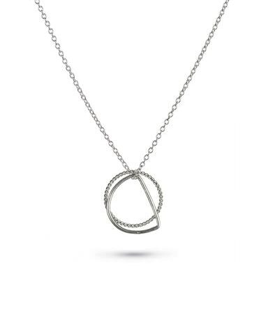 One and Eight Silver Double Dart Necklace