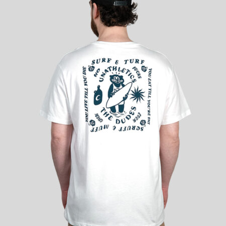 The Dudes Surf And Turf Tee in White