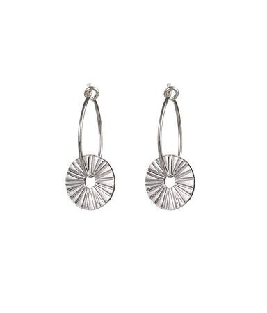 One and Eight Surfside Earrings in Silver