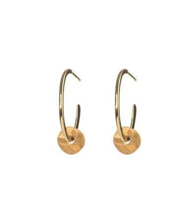 One and Eight Tolvan Hoop Earrings in Gold