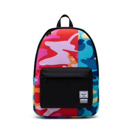 Herschel Supply Co Classic XL Andy Warhol Backpack in Blue Camo/Pink Camo/Black