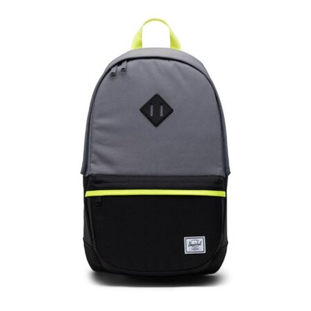 Herschel Supply Co Heritage Pro Backpack in Grey/Black/Safety Yellow